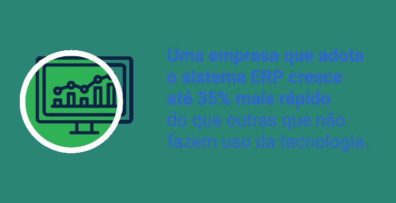 Crescimento da empresa que adota software ERP