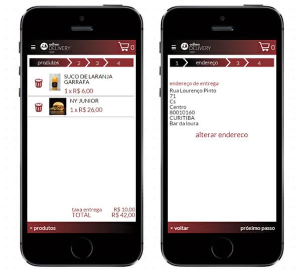 aplicativo de delivery da Teknisa