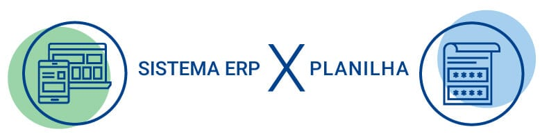 software ERP versus planilha