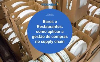Capa para e-book Bares e Restaurantes: como aplicar a gestão de compras no supply chain