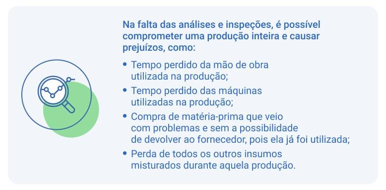análises e inspeções