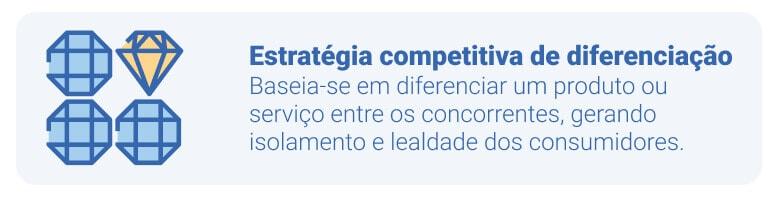 diferenciar produtos ou serviços entre os concorrentes