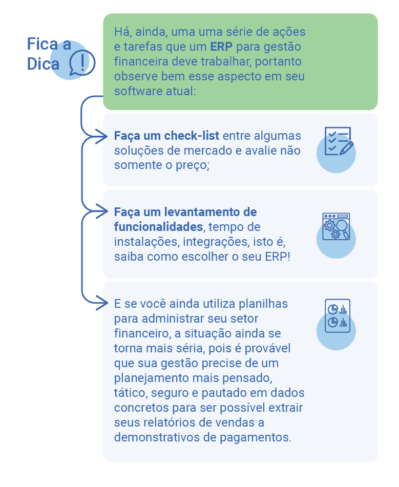 ERP para gestão financeira