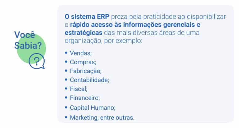 Infográfico Gestão Financeira ERP