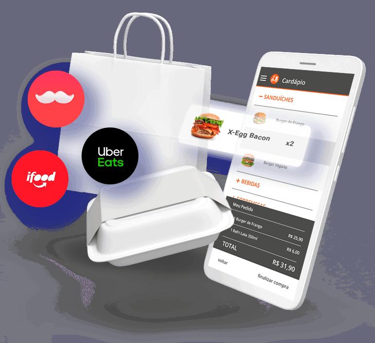 delivery app integrado rappi uber eats ifood