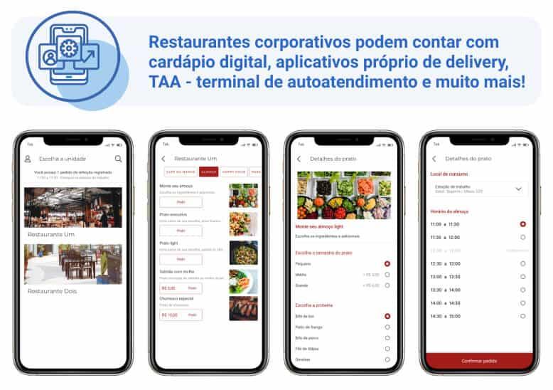 Cardápio digital e aplicativo próprio de delivery